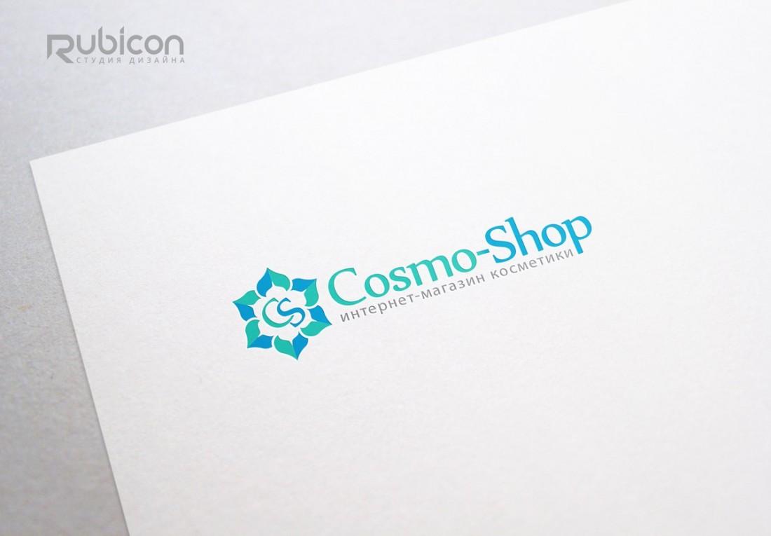 Логотип для интернет-магазина косметики CosmoShop